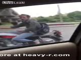 Iranian Biker Flashing His Erection To Girls In Car - Biker Videos