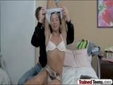 Skinny teen Stephanie railed by big dickA
