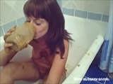 Drinking Piss Shit And Milk Cocktail - Poo in tub Videos