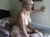 Busty MILF making a young skinny boys day!