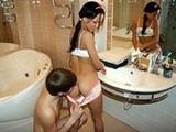 Teen Babe Is Lured Into Having A Quickie Sex In The Bathroom