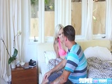 Blonde and super tiny Elsa Dream gets her pussy fucked by neighbor