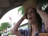 Busty cowgirl Dillion Carter banged good