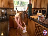Horny and hottie teen Elena filled on the cleaning day