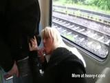Public Blowjob With Facial In Train - German Videos