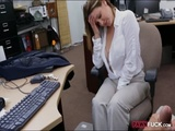 Business woman twat banged by pawnkeeper