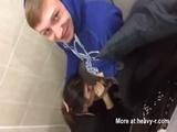 Teen Caught Sucking On School Toilet - Amateur Videos