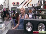 Petite teen loves banging around on a big cock pawn owner