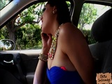 Slutty babe Ashley Daily rides a strangers cock in the car