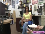 Hot Lilly Hall bends over and rides that hard shaft