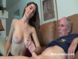 Letting Grandpa Play With Her Big Tits - Teen Videos