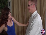 Brunette Cassidy Bliss makes out with her companion and gets banged
