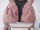 Pretty chick Stasy gets her wet pussy fucked hard