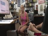 A cute slut fucks a horny pawndudes cock for cash
