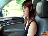 Slutty babe Shae Celestine trades blowjob for a free ride