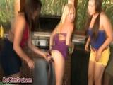 Bikini femdom babes taunt 2