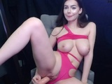 Brunette with Big Tits Fucks Pussy with Dildo on Cam - Jessica Starling