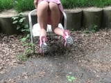 Public CREAMPIE // ANAL Fuck and BJ in Park