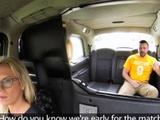 Busty Cabbie Deep Throats Huge Dick