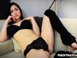Teen With Perfect Boobs Masturbates