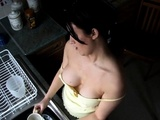 Washing With Boobs-out - Spy Video