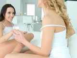 Finger Finesse - Lesbian Scene With Kerry Cherry And Li