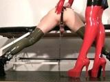 My slave femdom video - Milking my rubber slut