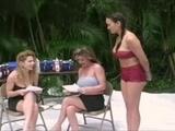 THREE GIRLS FUN WITH PIES