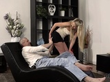Old4k. Spontaneous Sex Of Daddy And Blonde Starts With...