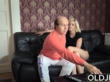 Young Blonde Ballerina Loves Old Dick