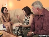 Old Parents Seduce His Teen Gf Easily