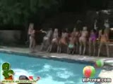 VIP bitches shaking their asses at pool party and fucked hard